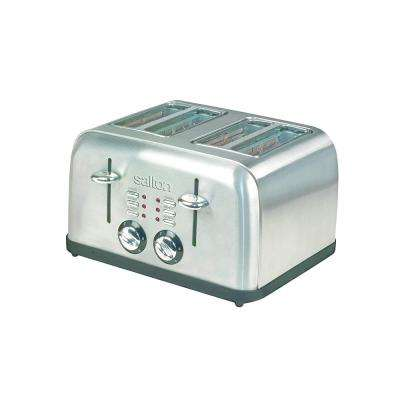 Electronic 4-Slice Stainless Steel Toaster