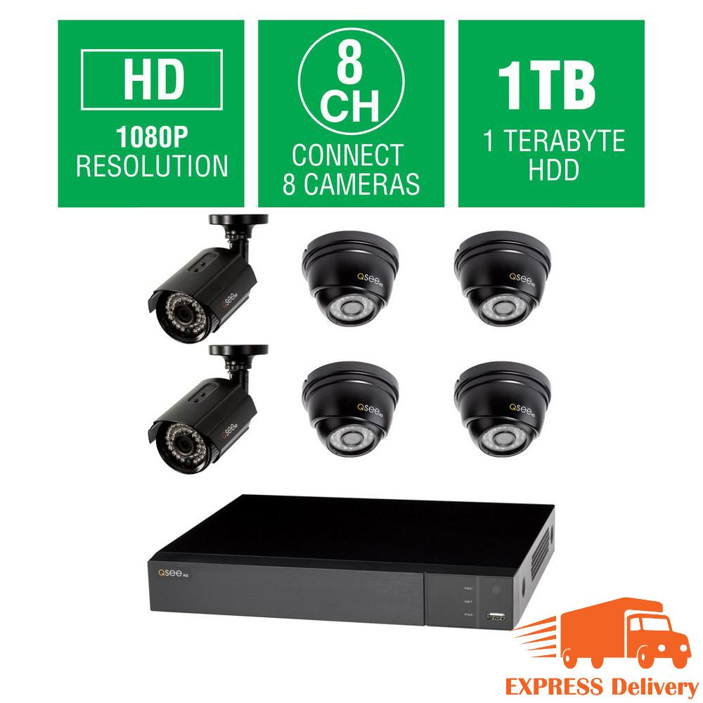 8-Channel 1080p 1TB Full HD Surveillance System with (2) 1080p Bullet