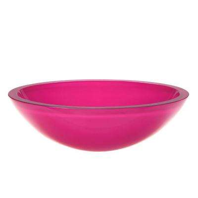 Translucence Glass Vessel Sink In Pink