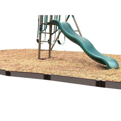 One Inch Series 16 ft. Weathered Wood Composite Straight Playgound Border