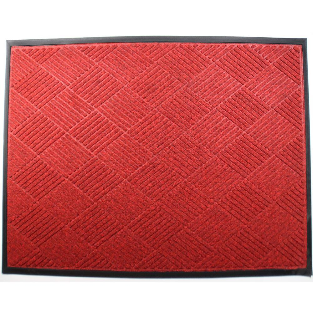 Opus 24 in. x 36 in. Red Entrance Mat