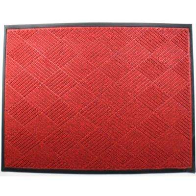 Opus 36 in. x 60 in. Red Entrance Mat