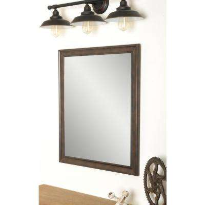 Traditional Clouded Bronze Framed Mirror