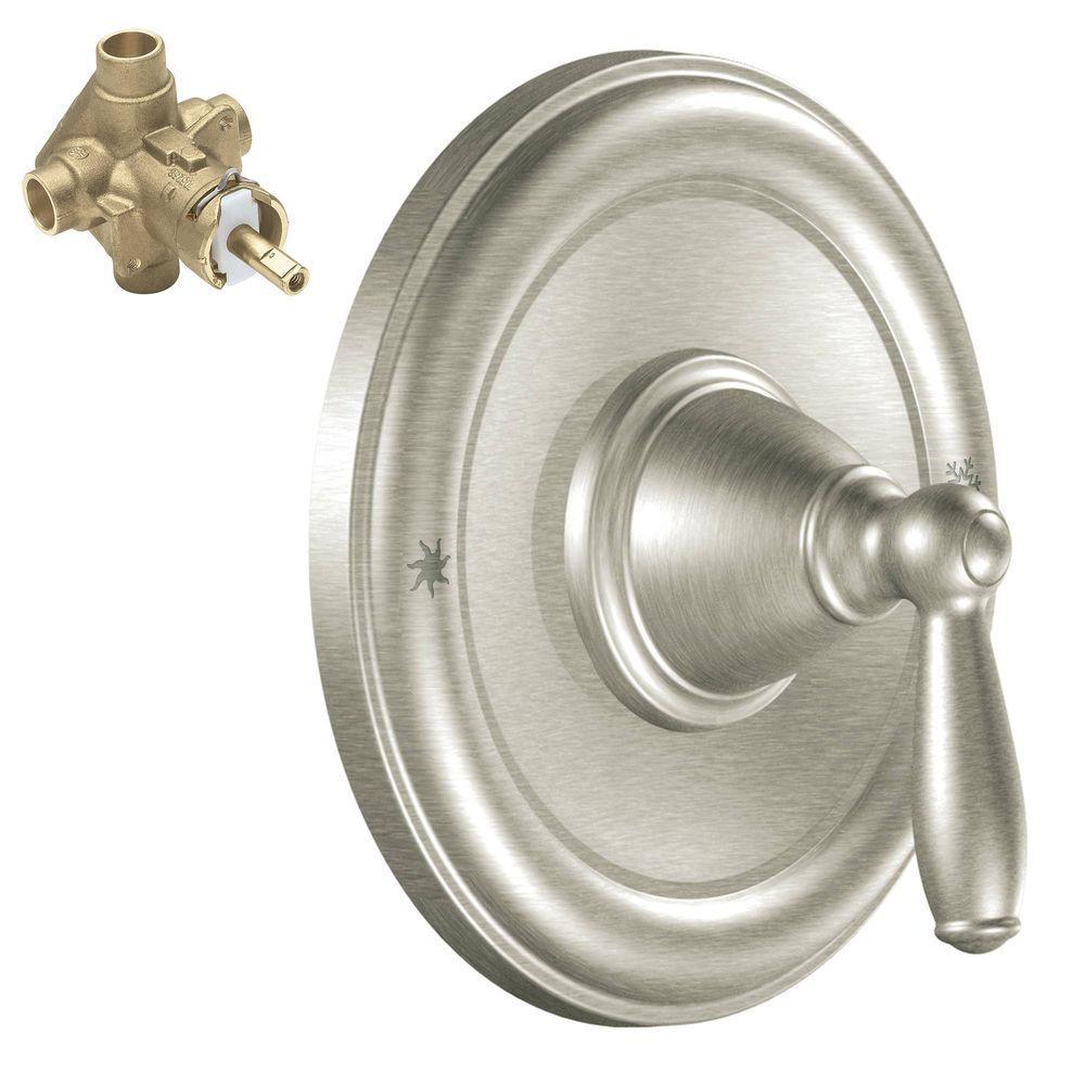 moen brantford 1 handle valve trim kit with valve in brushed nickel