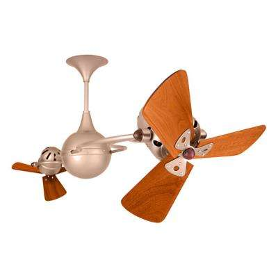 Italo Ventania 62 in. Indoor/Outdoor Brushed Copper Ceiling Fan with Wall Control