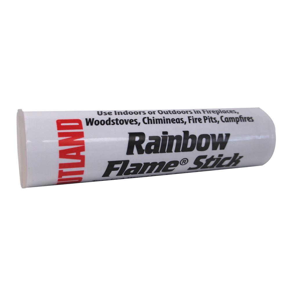 Rutland 1.5 oz. Rainbow Flame Crystals Short Stick