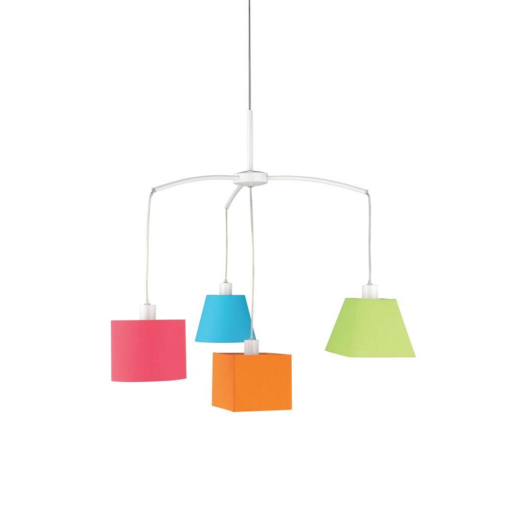 Philips Carnival 4-Light Hanging Multi Colored Pendant-DISCONTINUED