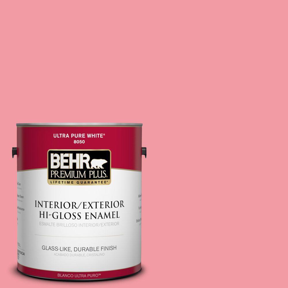 1-gal. #130B-4 Primrose Garden Hi-Gloss Enamel Interior/Exterior Paint