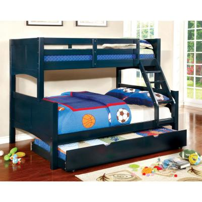 Prismo II Twin & Full Bunk Bed in Blue finish