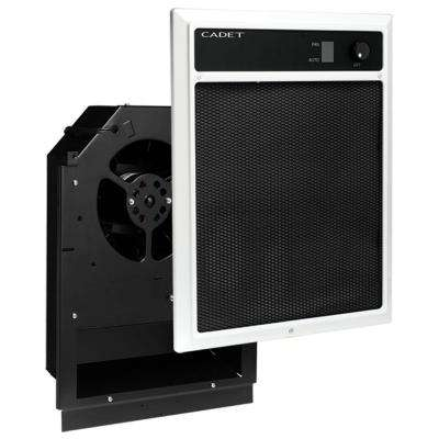 NLW Series 4,500-Watt 240/208-Volt In-Wall Fan-Forced Electric Heater Assembly with Grill