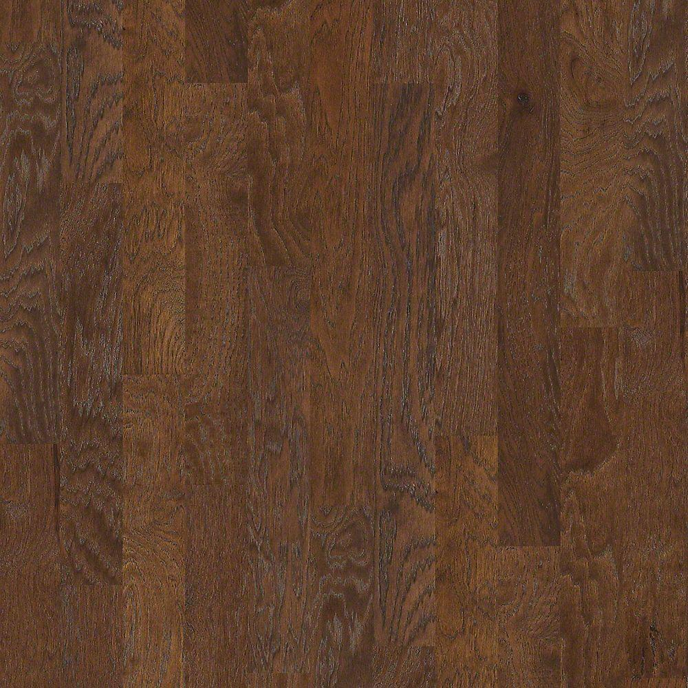 Shaw Take Home Sample Riveria Vintage Hickory Engineered Hardwood Flooring 5 In