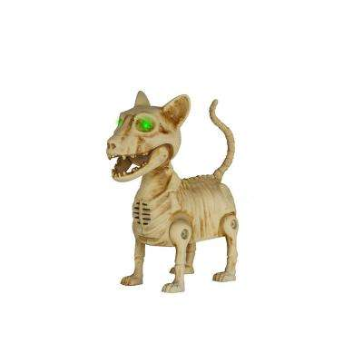7 in ANIMATED LED Skeleton Mini Cat