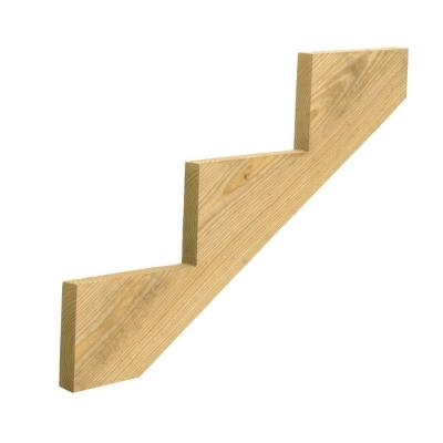 3-Step Ground Contact Pressure-Treated Pine Stair Stringer