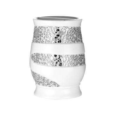 Sparkling Toothbrush Holder in White