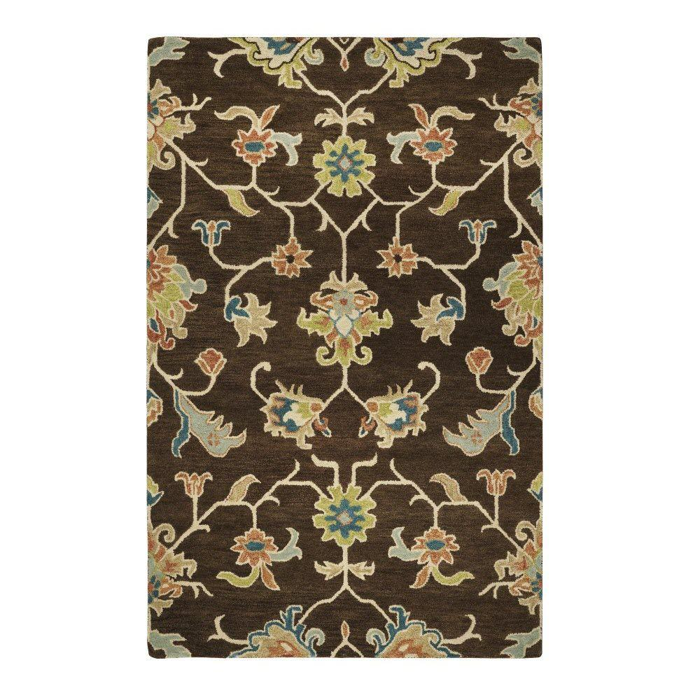 Home Decorators Collection Montpellier Chocolate 8 ft. x 11 ft. Area Rug