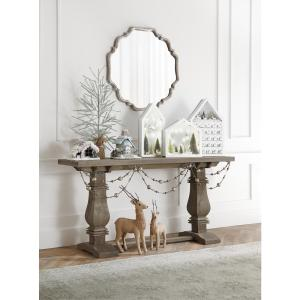 +7. Home Decorators Collection Aldridge Antique Grey Console Table