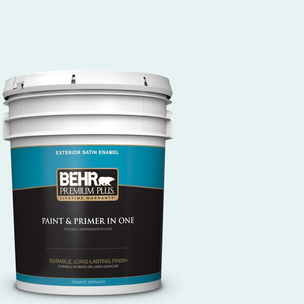 5-gal. #BL-W4 Ethereal White Satin Enamel Exterior Paint