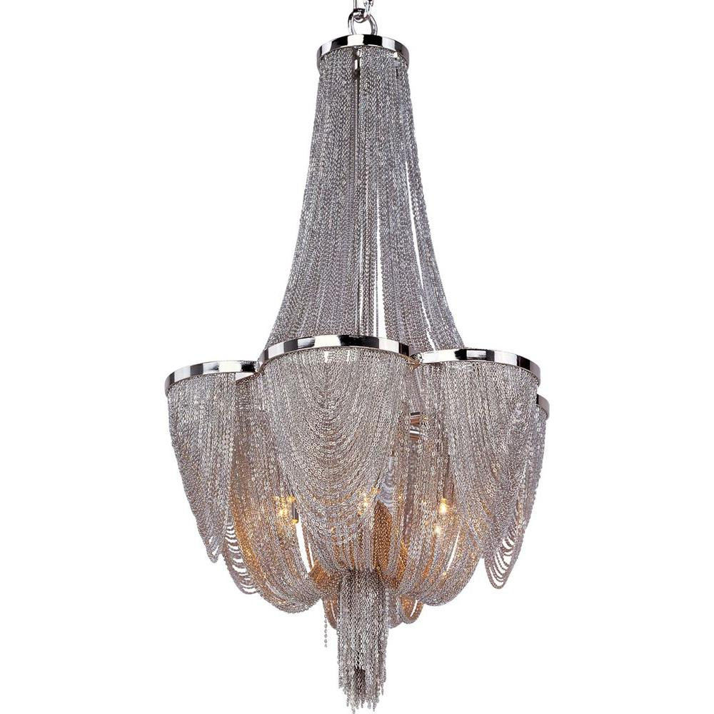 Chantilly 6-Light Polished Nickel Chandelier
