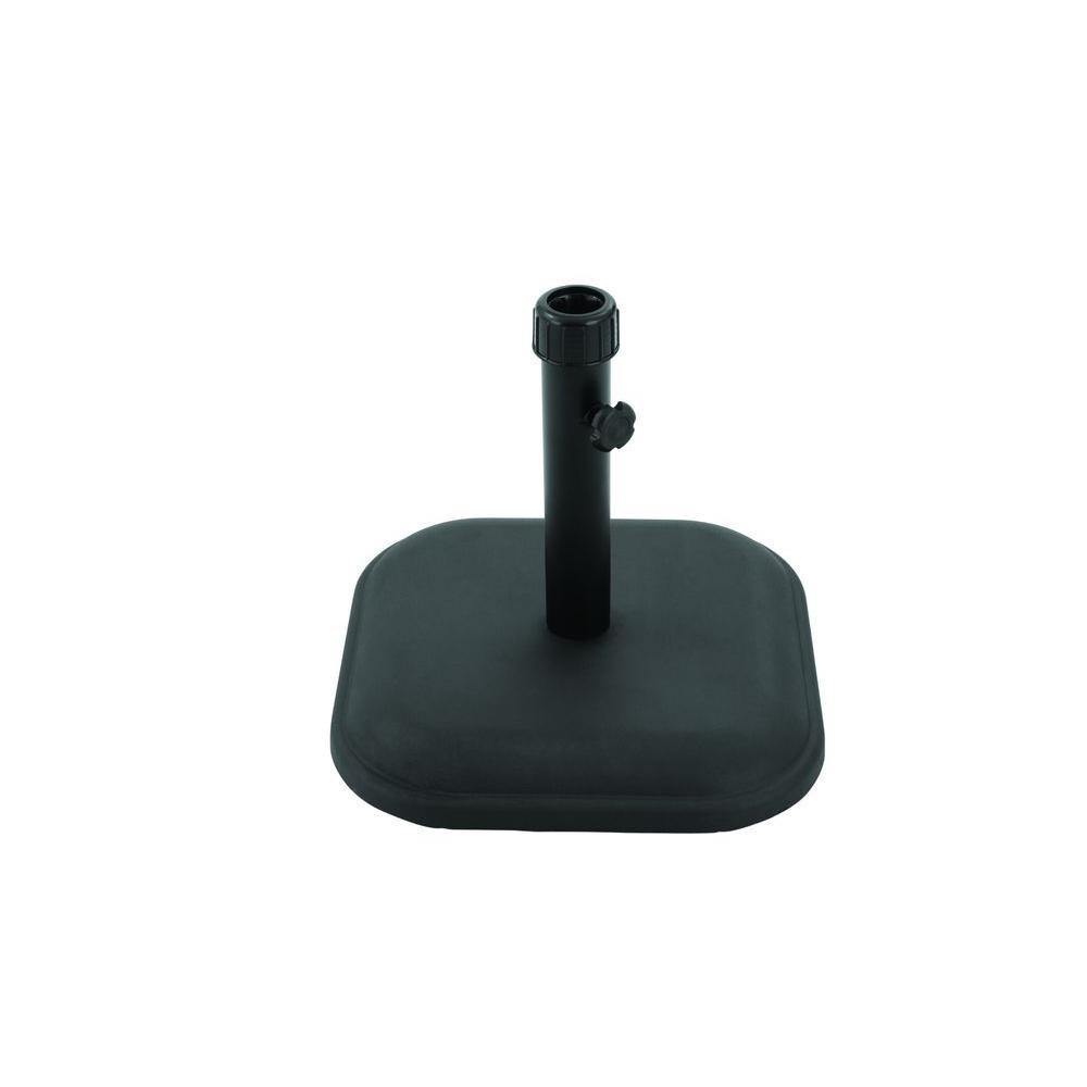 Patio Umbrella Base in Black - 26 Lbs. Patio Umbrella Base In Black-DTH11-B-BK - The Home Depot