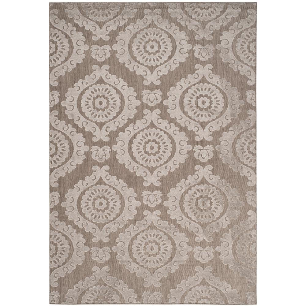Safavieh Monroe Taupe 4 ft. x 6 ft. Indoor/Outdoor Area Rug