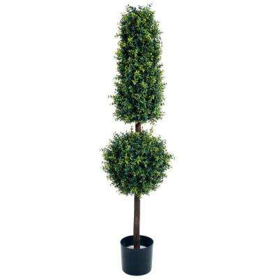 5 ft. Hedyotis Topiary Artificial Tree