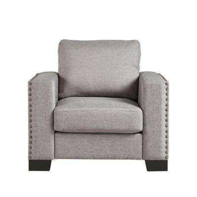 Octavia Smoke Linen Arm Chair