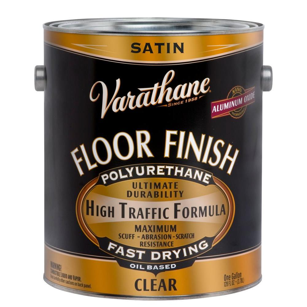 1 gal. Clear Satin 350 VOC Oil-Based Floor Finish Polyurethane (2-Pack)