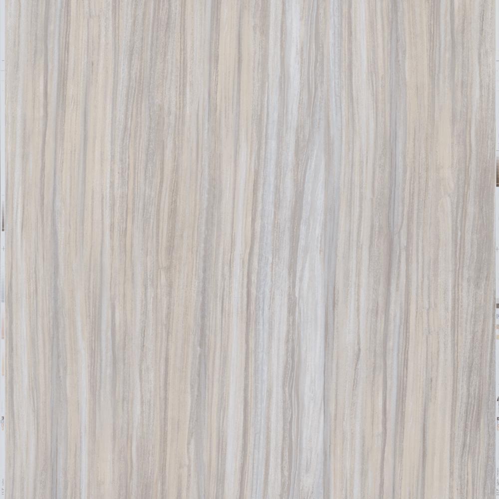 Take Home Sample - Gray Linear Travertine Peel and Stick Vinyl Tile - 5 in. x 7 in.