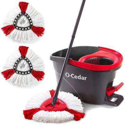 EasyWring Microfiber Spin String Mop System with 3 Power Refills