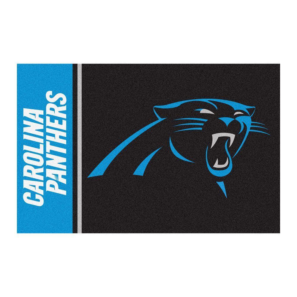 NFL - Carolina Panthers Black Uniform Inspired 2 ft. x 3 ft. Area Rug