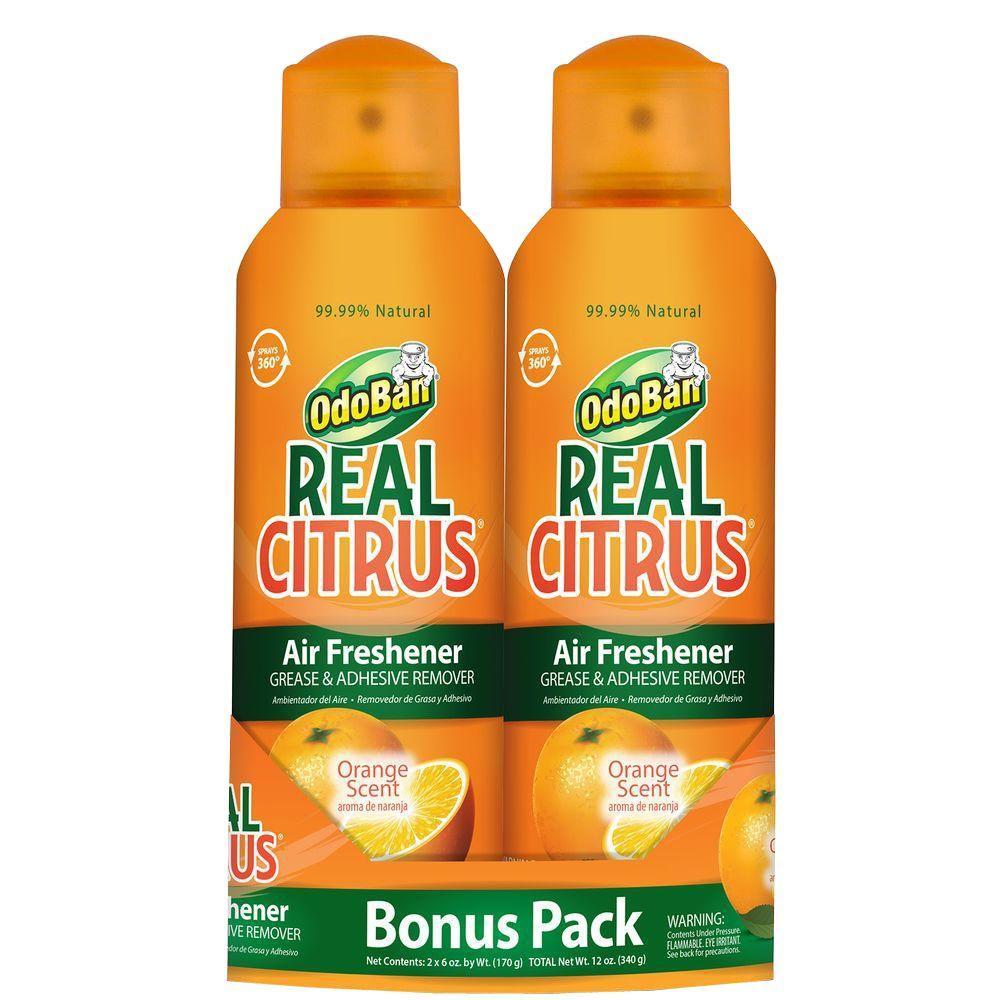 OdoBan 6 oz. Real Citrus Orange Air Freshener Bonus Pack