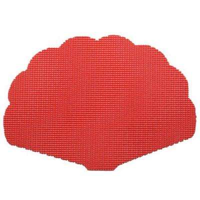 Flag Red Fishnet Shell Placemat (Set of 12)
