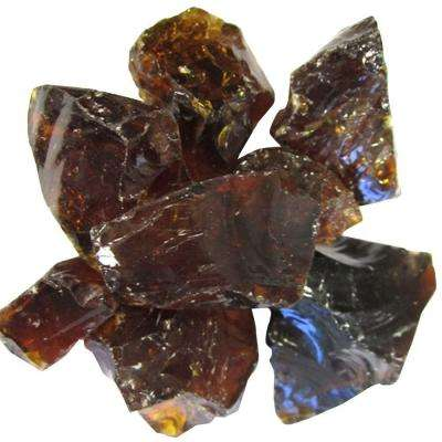 0.75 in. Amber Recycled Fire Glass