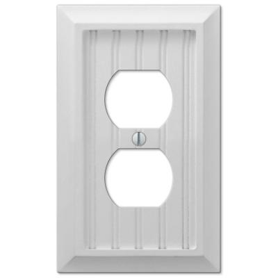 Cottage 1-Gang Duplex Composite Wall Plate - White (4-Pack)