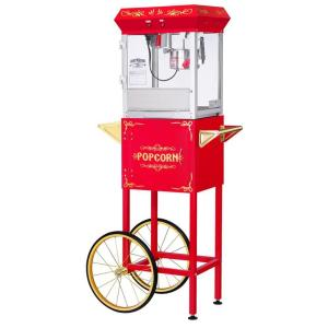 All-Star 4 oz. Red Popcorn Machine with Cart