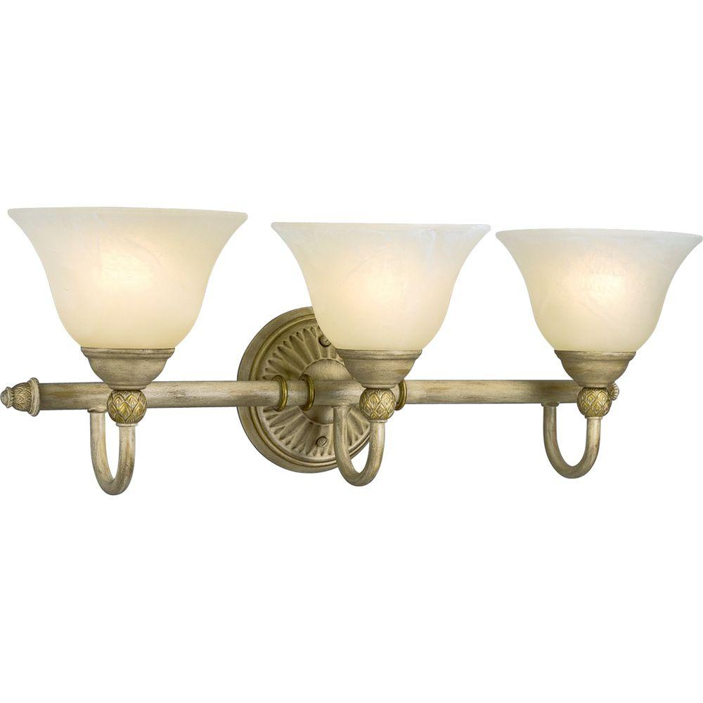 Progress Lighting Savannah Collection 3-Light Seabrook Vanity Fixture