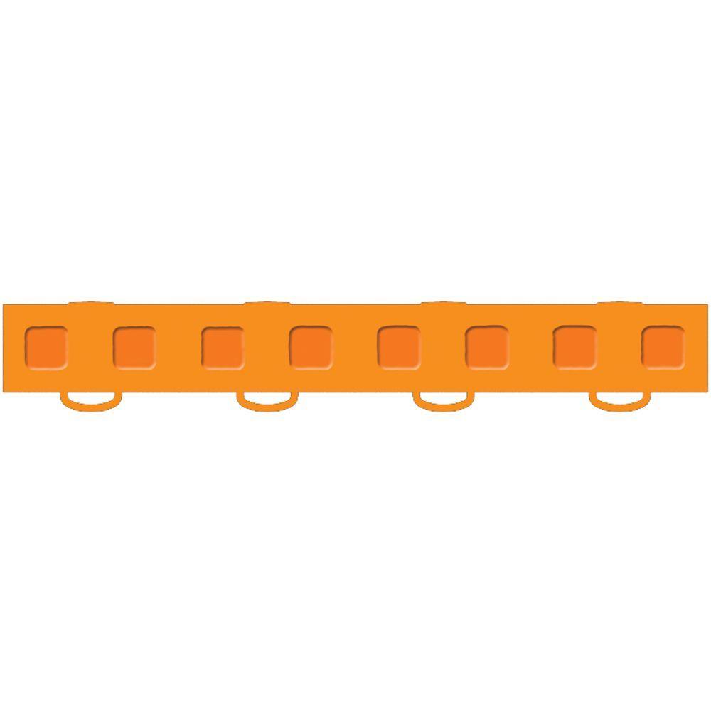 WeatherTech TechFloor 1-1/2 in. x 12 in. Orange Vinyl Flooring Tiles (Quantity of 10)