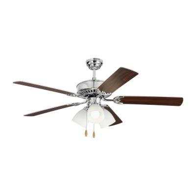 Haven LED 3 52 in. Indoor Chrome Ceiling Fan with Light Kit
