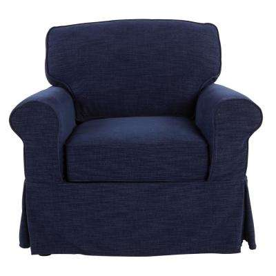 Ashton with Navy Slip Cover Chair