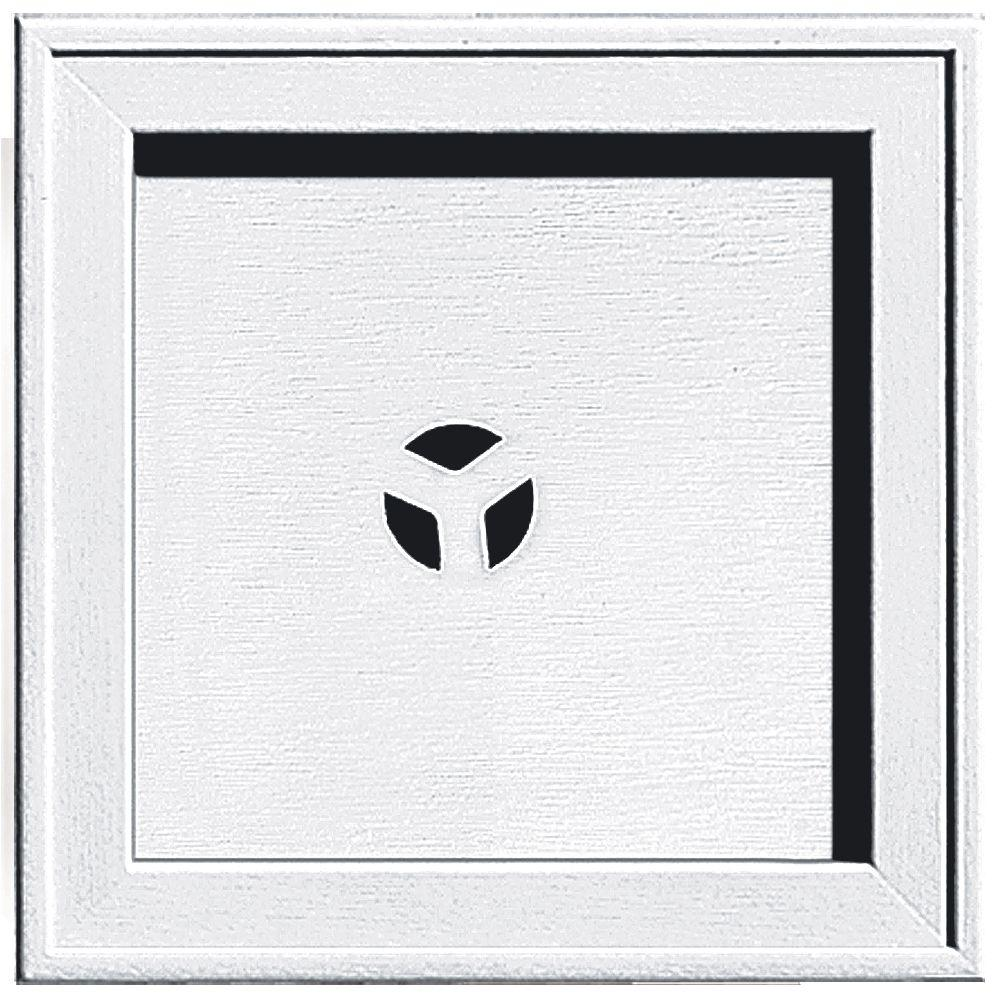 7.75 in. x 7.75 in. #001 White Recessed Square Mounting Block