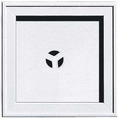 7.75 in. x 7.75 in. #001 White Recessed Square Universal Mounting Block