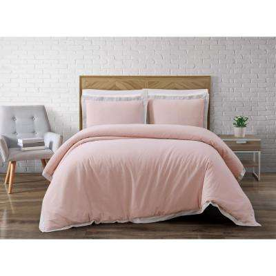 Brooklyn Loom Wilson Pink King Duvet Set