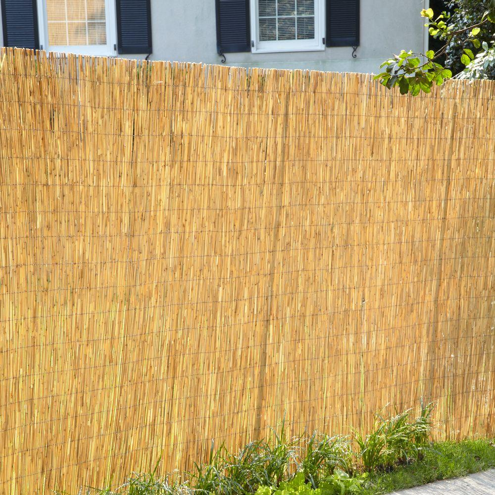 16 Ft W Natural Reed Garden Fencing