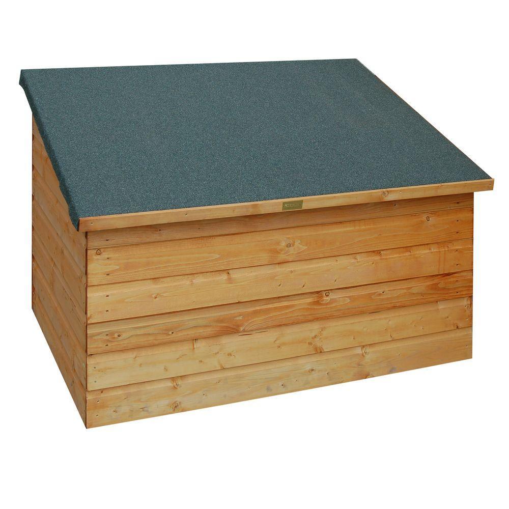 English Garden 4.5 ft. x 3 ft. Wood Garden Deck Box