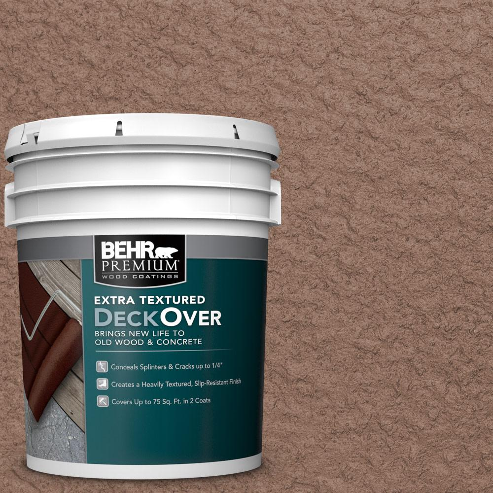5 gal. #SC-148 Adobe Brown Extra Textured Wood and Concrete Coating