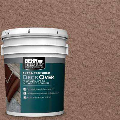 5 gal. #SC-148 Adobe Brown Extra Textured Solid Color Exterior Wood and Concrete Coating