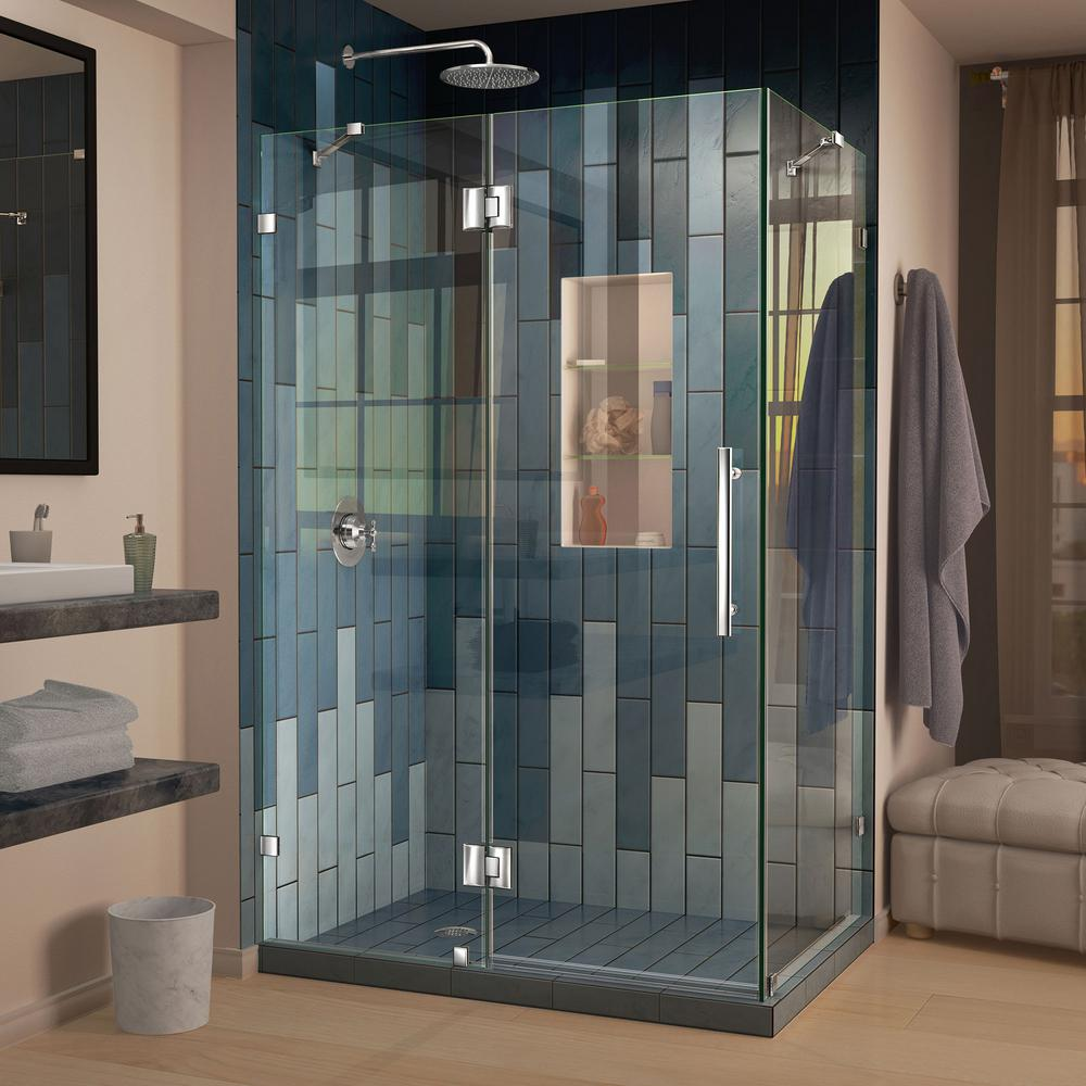 This Review Is From:Quatra Lux 46 5/16 In. X 32 1/4 In. X 72 In. Frameless  Corner Hinged Shower Enclosure In Chrome