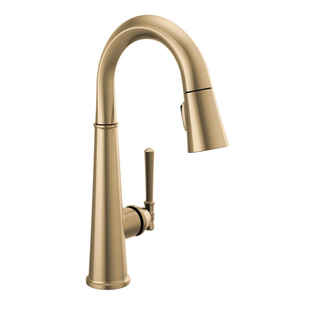 Emmeline Single-Handle Bar Faucet in Lumicoat Champagne Bronze
