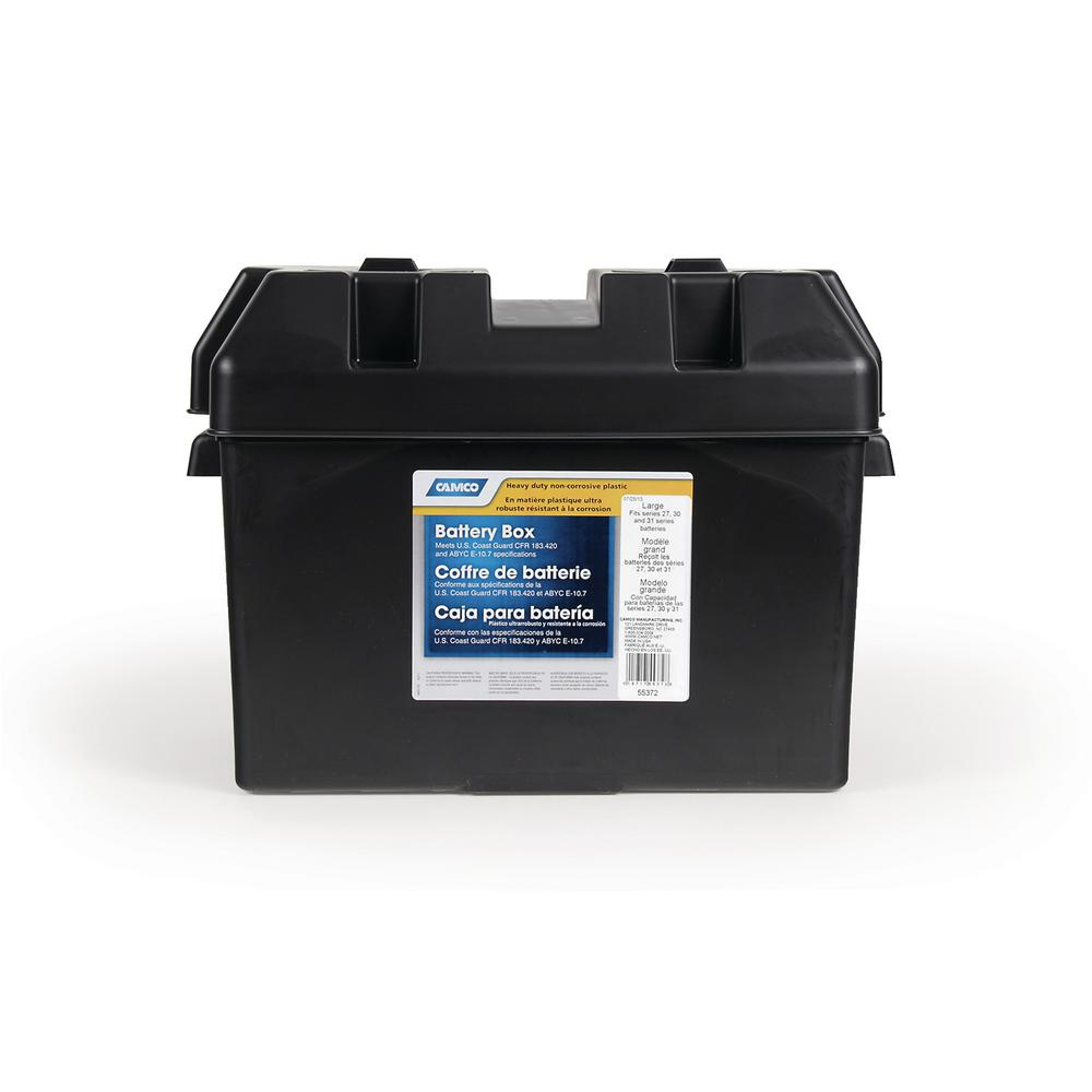 RV Large Battery Box, Black