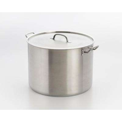 35 Qt. Professional Stainless Steel Stock Pot with Encapsulated Base and Lid